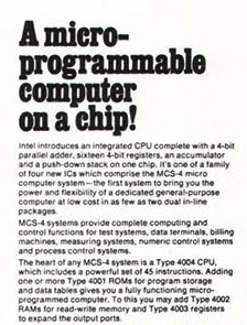 Intel 4004 — 50th Anniversary Project