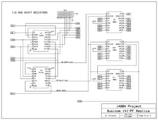 Busicom 141-PF Replica schematics 2 of 5