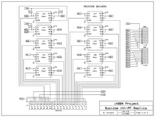 Busicom 141-PF Replica schematics 3 of 5