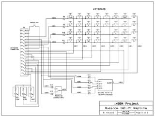 Busicom 141-PF Replica schematics 5 of 5